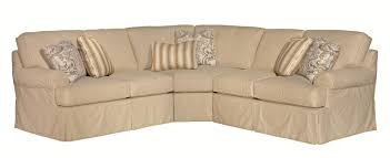 Slipcovered Sectional Sofas Five Slipcover Sectional Sofa With Rolled Arms By