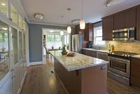 Kitchens With Island by Cute Galley Kitchen With Island Floor Plans