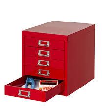 spencer 5 drawer desktop cabinet red officeworks