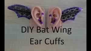diy halloween bat wing ear cuff tutorial youtube