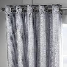 Glitter Curtains Ready Made Tony S Textiles Velvet Sparkle Glitter Stripe Fully Lined Ring Top