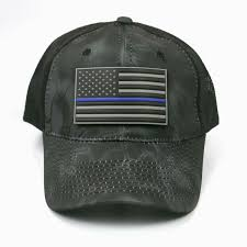 American Flag Camo Hat Thin Blue Line Black Kryptek Camo Hat With Patch Armed American