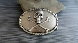 Handmade Belts And Buckles - buy a crafted handmade antique silver steunk skull and
