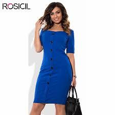 short sleeve plus size women elegant casual office dresses 5xl big