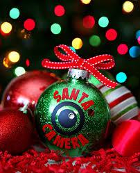 handmade keepsake santa handprint ornament