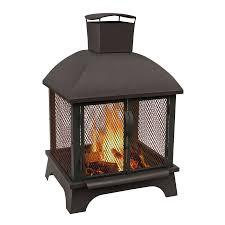 Landman Firepit Shop Landmann Usa 26 In W Black Sandpaint Steel Wood Burning