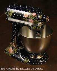 Kitchenaid Mixer Artisan by Un Amore Custom Designs Navy Polkadot Floral And Berries Custom
