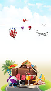 where do you go for the weekend balloon blue sky coconut palm