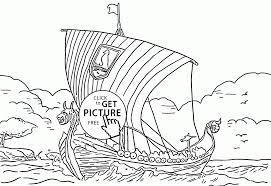viking ship coloring page for kids transportation coloring pages