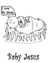 baby jesus manger coloring page