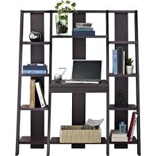 altra home decor altra furniture ladder bookcase with desk in espresso finish