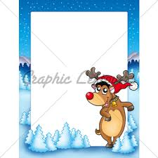 cute christmas reindeer gl stock images