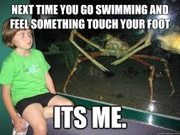 Me Next Time Meme - next time you go swimming and feel something touch your foot its