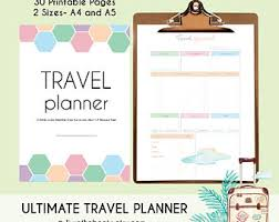 printable vacation journal pages travel journal a5 travel planner printable vacation organizer