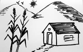 how to draw nature drawing in simple steps for beginners and