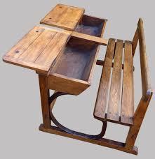 bureau d ecolier ancien pupitre d écolier 2 places en bois marcel roy fabricant