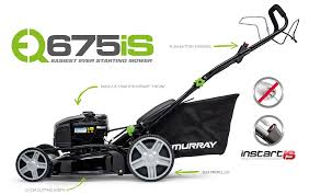 eq675is walk behind mower with instart murray lawn mowers