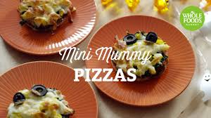 halloween appetizers recipes halloween recipe mini mummy pizzas freshly made l whole foods