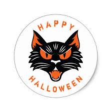 halloween black cat face stickers zazzle