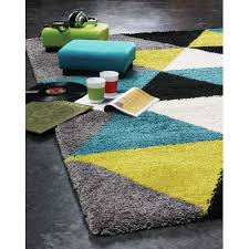 delgadillo triangles area rug teal lime green gray black and