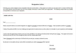 resignation letter templates 26 free word excel pdf documents