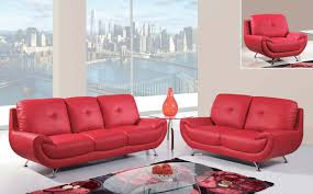 sofas with metal legs global furniture usa 4120 sofa seat red bonded leather with metal