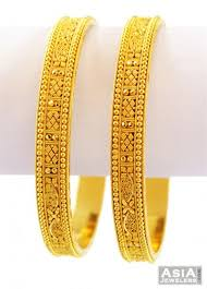 bracelet gold patterns images Handmade filigree bangles 22k gold asba56965 22k yellow gold jpg