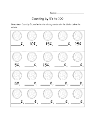 Coin Worksheets Skip Count By 5 Worksheets Activity Shelter