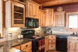 tag for log style kitchen cabinets of log cabin kitchen black
