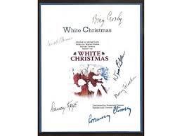 white christmas movie script signed screenplay autographed