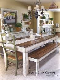 Bench Dining Tables Brilliant Country Kitchen Table With Bench Dining Fully Cushioned