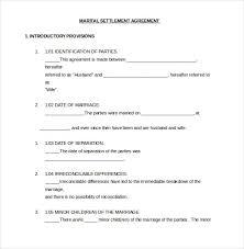 divorce agreement template u2013 11 free word pdf documents download