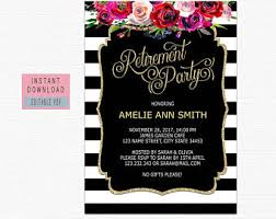 retirement invitations retirement invites etsy