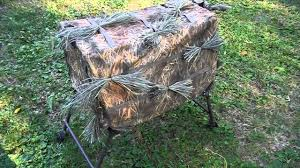 Tree Trunk Hunting Blind How To Camo Your Layout Boat Or Dog Hunting Blind Youtube