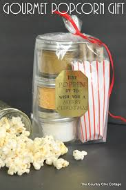 gourmet gifts gourmet popcorn gift in a jar the country chic cottage