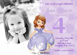 sofia the first birthday party invitation by prettypaperpixels