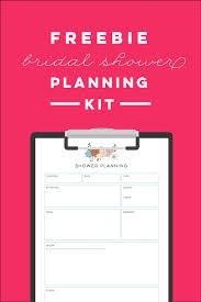 bridal shower planner free printable bridal shower planning kit ms giggles