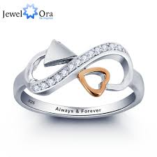 day rings personalized personalized promise ring 925 sterling silver heart arrow ring