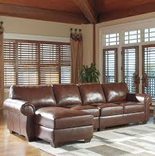 Ashley Chaise Sectional Signature Design By Ashley Lugoro Leather Match 3 Piece Sectional