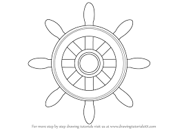 draw learn how to draw a boat wheel boats and ships step by step