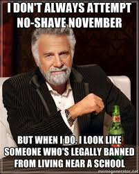 No Shave November Memes - i dont always attempt no shave november weknowmemes