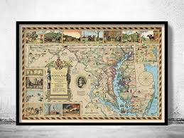 me a map of maryland map of maryland county history 1931 maps and vintage prints