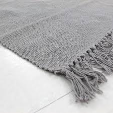 tapis de cuisine et gris petit tapis cuisine 100 coton gris 60x120cm monbeautapis com