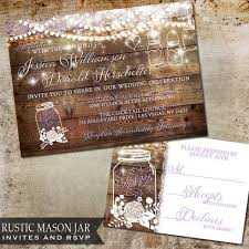 jar wedding invitations rustic jar wedding invitation wood with flicker handing