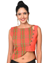 style blouse asymmetrical overlap style blouse prathaa weaving traditions