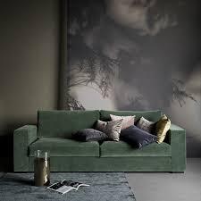 canap velours vert inspiration je veux un canapé vert madame dé