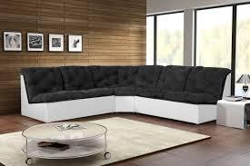 canapé d angle noir pas cher canapé d angle modulable en tissu noir blanc gisela canapé d angle