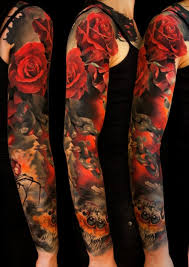 rose full sleeve tattoo dark rose tattoo dark rose tattoo custom