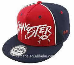 Ottoman Cap Gangster Rubber Print Mini Ottoman Snapback Hiphop Flat Cap And