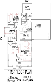 3 Bedroom Floor Plans With Garage Small 3 Bedroom House Floor Plans Design Slab On Grade Easy Home